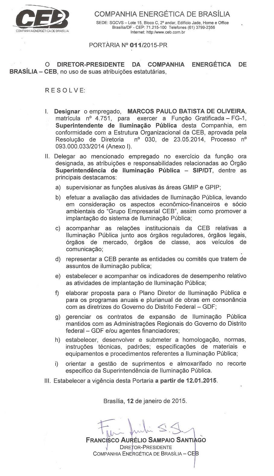 Portaria 01-2015-CEB-H