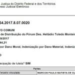 2.7 - Ação de Indenização - TJDFT - Processo nº 0708922-64.2017.8.07.0020