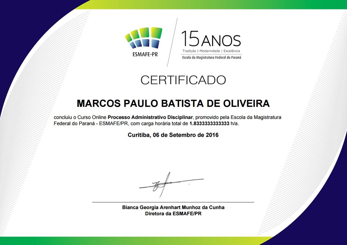certificado PAD