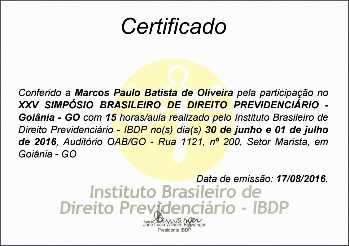 certificado ibdp