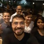 Professor Vinícius Silva e demais candidatos a Delta da PCPA, 'curtindo' pós-prova no Amazon Beer na Estação das Docas.
