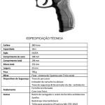Arma utilizada (pistola Taurus)
